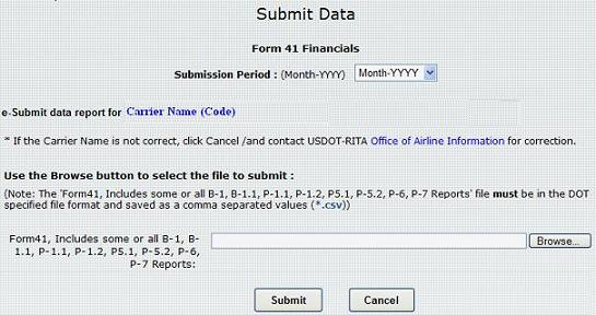 Figure 14: Submit Reports